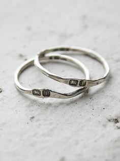 Gainsbourg hallmarked ring - Macha Jewelry - I bought this as my wedding ring, paired it with a Rockwell II engagement ring. So unique! - #machapintowin