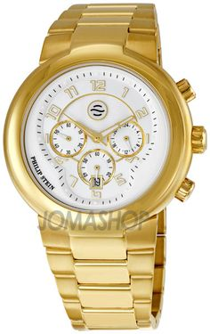 Philip Stein Active Large Chronograph Gold Plated Ladies Watch 32-AGW-GSS $419.01