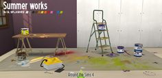 Sims 4 CC's - The Best: Summer Works Paint Set in 12 Colors by Sandy