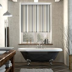 Splash Hampton Stripe Naturale Roller Blind%20from%20Blinds%202go