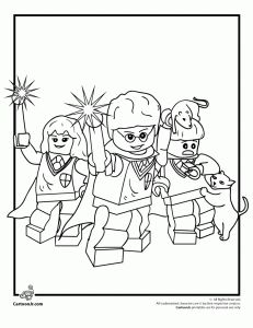 Legos Harry Potter Coloring Sheet