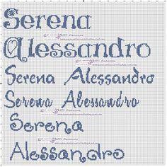 amorevitacrocette: Serena e Alessandro a punto croce