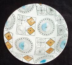Kathie Winkle Compass pattern bowl Broadhurst pottery