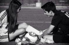 Cute soccer couple aww