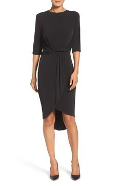 Free shipping and returns on Ivanka Trump Faux Wrap Dress at Nordstrom.com. This elegant and easy-to-accessorize dress drapes the figure in soft, slinky jersey.