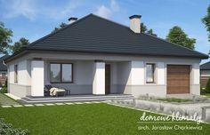 Projekt domu Alt N, wizualizacja 1 Tuscan House, Home Design Plans, Bungalow, Gazebo, House Plans, Sweet Home, New Homes, Exterior, Outdoor Structures