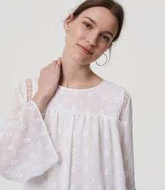 Thumbnail Image of Color Swatch 9000 Image of Daisy Bell Sleeve Blouse