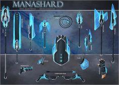 Manashard Weapon Set by JNetRocks.deviantart.com on @deviantART