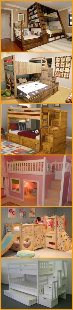 "Whether they're for fun or function, bunk beds come in all shapes and styles. Find the bunk bed that suits you in our ""Bunk Beds"" album at http://theownerbuildernetwork.co/iv75 Don't forget to let us know your favorite!"