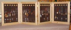 Four Panel Handcrafted Jewelry Display Case