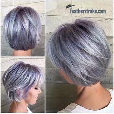 Color de cabello gris acero