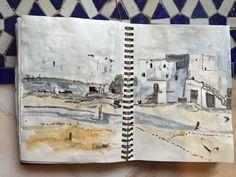 Carnet de voyages Sketch book Maroc marocco