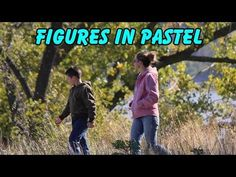 how to draw figures in pastel
