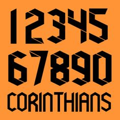 Corinthians Kits by Nike - SoccerBible Football Fonts, Sports Fonts, Football Design, Football Team, Jersey Font, Typography Design, Logo Design, Hand Lettering Fonts, Retro Futuristic