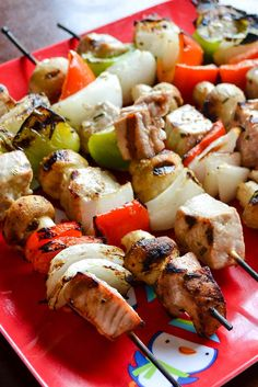 Try out something new on the grill this weekend with this freezer recipe for Grilled Tuna Kebabs in a delicious rosemary garlic marinade.
