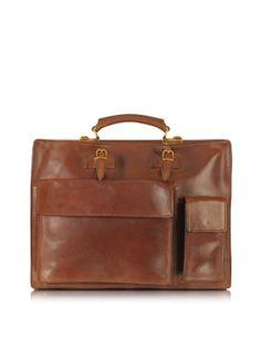 """My """"Dress to Impress Business briefcase"""" the Bridge Dark Brown Leather Briefcase"""