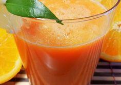 Narancs turmix 🍊🍋🥕 recept foto Cantaloupe, Detox, Recipies, Food And Drink, Pudding, Vegan, Fruit, Drinks, Desserts