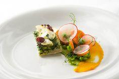 halibut, carrot, peas