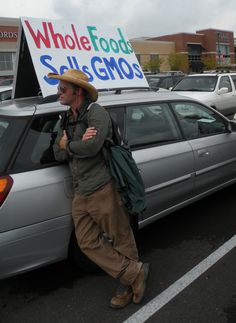 Sustainability hero Eric Herm. This Texan farmer used to plant Monsanto's Roundup Ready GMO cotton. Now he's fighting the good fight against corporate agriculture and spreading the good word about organic. Photo taken at an anti-GMO protest in St. Louis, Sept 17 2012.