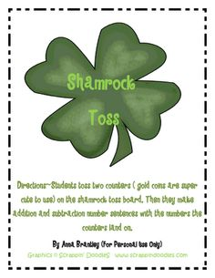 Shamrock Toss - Re-pinned by @PediaStaff – Please Visit http://ht.ly/63sNt for all our pediatric therapy pins