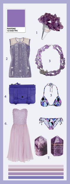 Margaret Elizabeth Blog- Purple Pantone  Love the color of the bag, and the bikini is so sweet--Love the pattern!