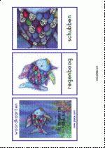 Begeleide of zelfstandige activiteit - Woordkaarten, de mooiste vis van de zee The Ocean, The Rainbow Fish, Beneath The Sea, Childrens Books, Colours, Groot, Strand, Fun, Aquarium