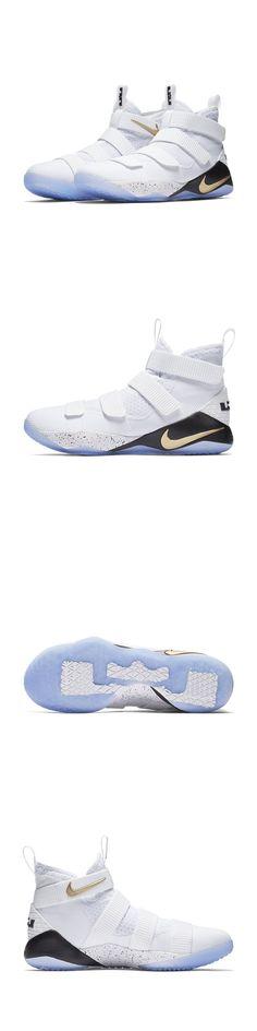"Men 158971: Lebron Soldier 11 ""Court General"" 897644-101 Men Nike Xi Sfg White Gold -> BUY IT NOW ONLY: $119 on eBay!"