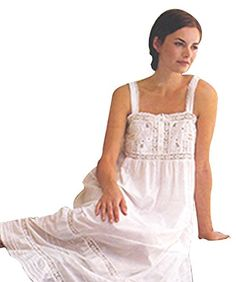 Cotton Lane White Cotton Victorian Edwardian Vintage Reproduction  Large Plus Size Nightdress. White Cotton fdaf704ef