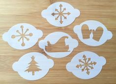 SET of 6 Christmas Snow Face Painting stencils wash/reuse for just £8 BARGAIN | eBay