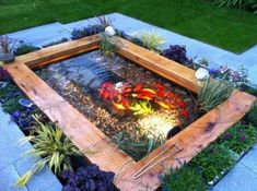 wasserspiel garten If you like fishes and feel that you are able to feed them, building a koi pond would be a nice decision. Fish Ponds Backyard, Outdoor Ponds, Backyard Water Feature, Koi Ponds, Indoor Outdoor, Backyard Ideas, Back Yard Pond Ideas, Patio Pond, Backyard Waterfalls