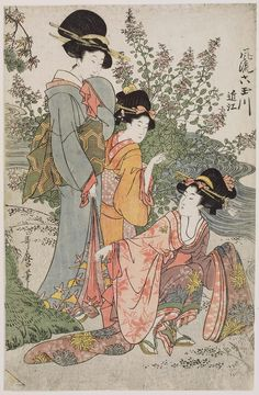 Ômi Province, from the series Fashionable Six Jewel Rivers (Fûryû Mu Tamagawa) about 1804 (Bunka 1) Artist Kitagawa Utamaro I, Japanese