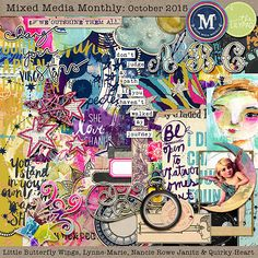 Mixed Media Monthly - October '15 main kit by Lynne-Marie