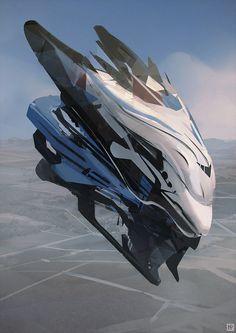 Graphic Spaceship by LennartVerhoeff.deviantart.com on @DeviantArt