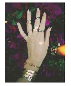 Lana Del Rey's nails.