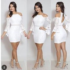 Simple Dresses, Sexy Dresses, Evening Dresses, Short Dresses, Prom Dresses, Formal Dresses, White Fashion, Girl Fashion, Fashion Outfits