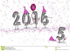 New Year 2016 Party Humor Stock Illustration - Image: 53411292