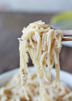 Brown Butter Parmesan Spaghetti.  One of my all-time fav's!!  Super simple, but oh so good!