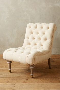 Striped Linen Orianna Slipper Chair, Wilcox - anthropologie.com