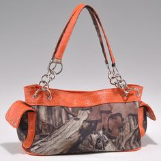 Health  Beauty Collection  - Camouflage studded croco trim shoulder bag w/ chain handles - camouflage/ Orange, $42.99 (http://www.healthbeautycollection.com/camouflage-studded-croco-trim-shoulder-bag-w-chain-handles-camouflage-orange/)