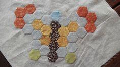 Mariposa hexágonos para manta