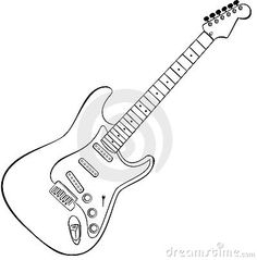 Rock guitar vector by Nero00, via Dreamstime