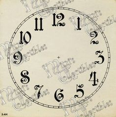printable victorian clock faces - Google Search