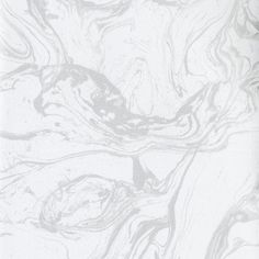 Modern Marble Wallpaper in White and Metallic design by Ronald Redding for York Wallcoverings