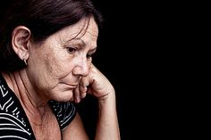 Sad and worried old woman by SalFalko, via Flickr