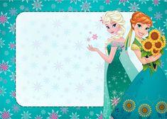 Elsa and Anna Frozen Fever Party, Frozen Birthday Party, 5th Birthday Party Ideas, Girl Birthday Themes, Frozen Theme, Free Printable Invitations, Free Printables, Disney Frames, Party Kit