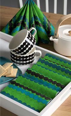 Rasymatto Luncheon Napkins Green, Maija Louekari, designer