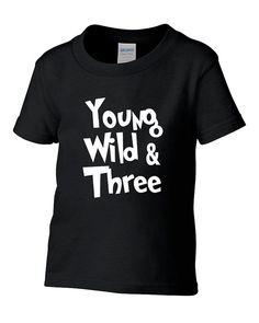 Junge Wilde und drei 3 Geburtstag Tshirt von TeeHeeHeeShirt auf Etsy