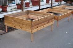 Modular raised bed system for Square-Foot Gardening