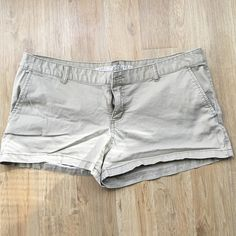 Mossimo khaki shorts! 98% cotton. Equivalent to a size 14 in American Eagle ---size 17 on tag. Worn twice. Mossimo Supply Co Shorts