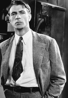 Gary Cooper in a 1933 photo promoting Design for Living